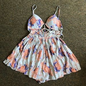 NWT LF Angel Biba Cut Out Boho Romper